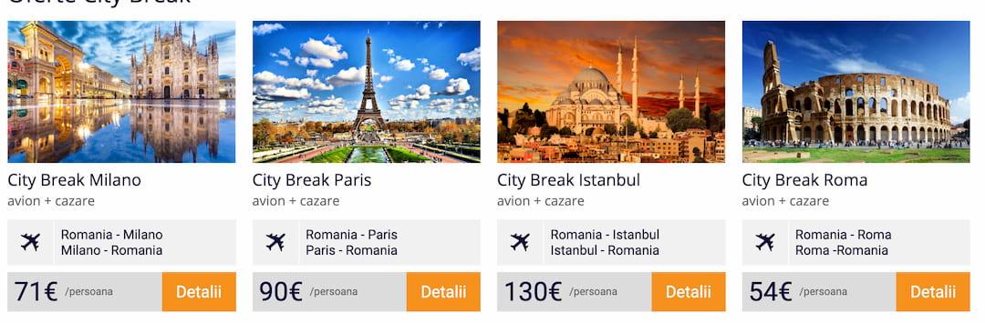 oferte city break ieftine europa